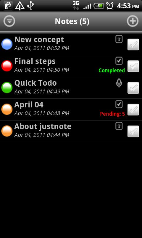 JustNote Notepad/Todo - screenshot