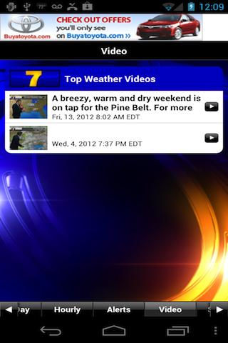 WDAM 7 Hattiesburg Weather - screenshot