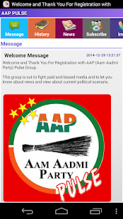 AAP(Aam Aadmi Party) Pulse- screenshot thumbnail