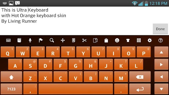 Hot Orange Keyboard Skin - screenshot thumbnail