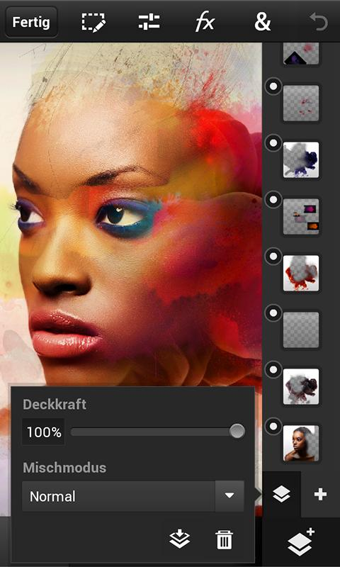 Photoshop Touch for phone - screenshot