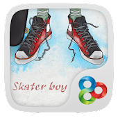 Skater boy GO Launcher Theme