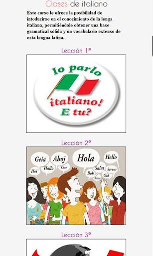 Clases de Italiano Gratis