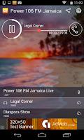 Screenshot of Power 106 FM Jamaica