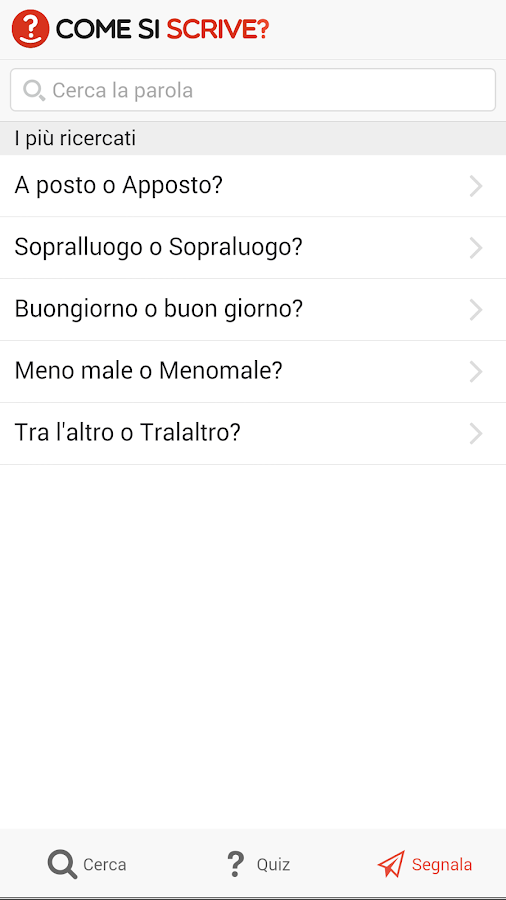 Come si scrive?- screenshot