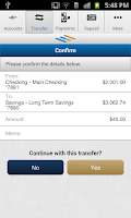 Screenshot of FirstMerit Mobile Banking