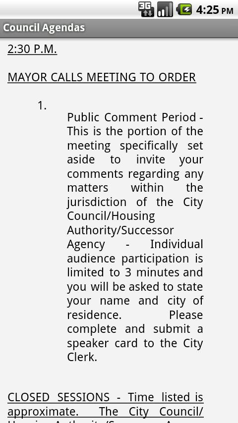 Riverside Council Agendas- screenshot