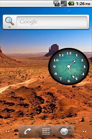 Analog Clock Blue