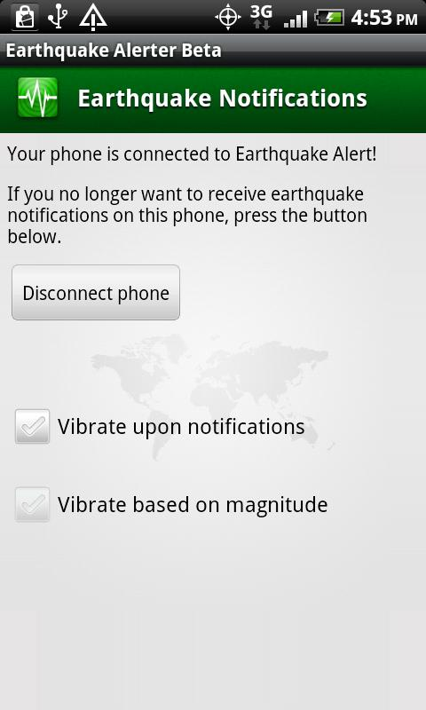 Earthquake Alerter Free- screenshot