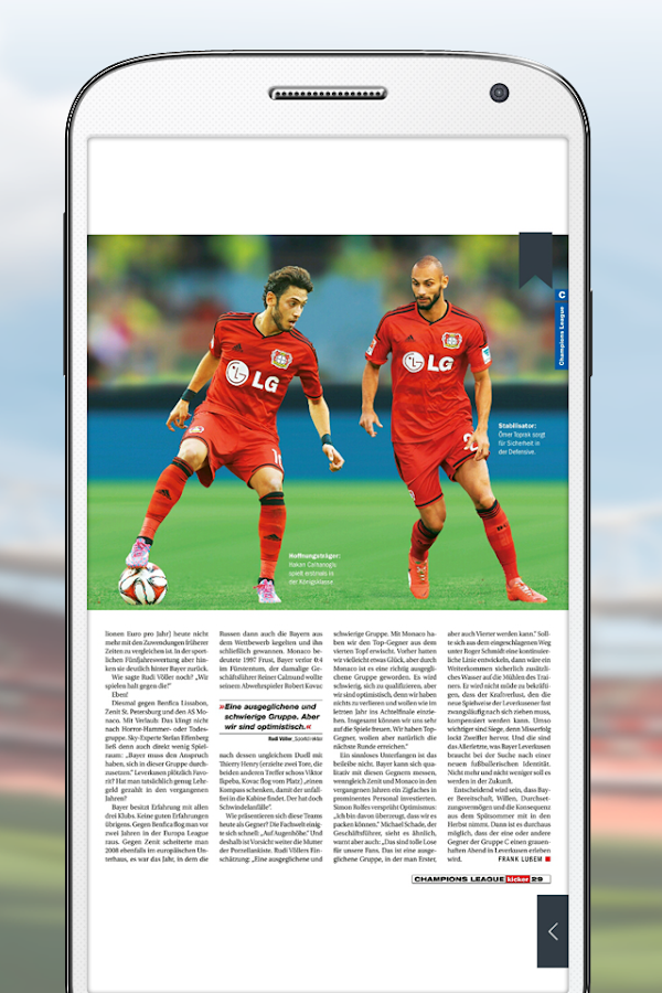 kicker eMagazine- screenshot