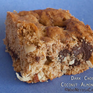 Dark Chocolate Coconut Almond Squares
