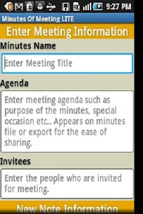 Minutes Of Meeting - screenshot thumbnail