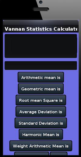 Vannan Statistics Calculator
