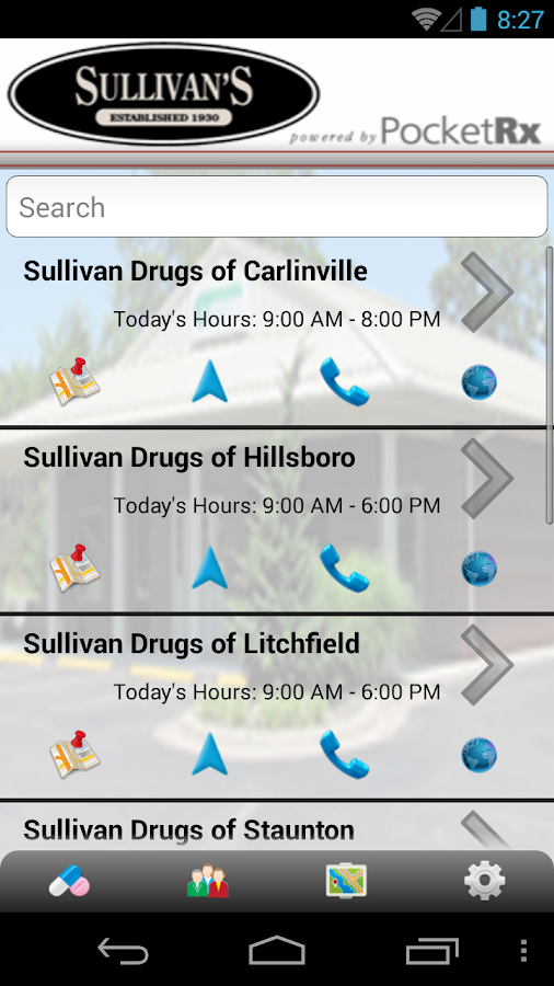 Sullivan's Drugs PocketRx - screenshot