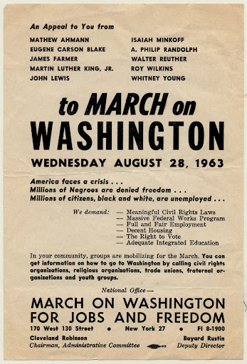 """An Appeal to You…to March on Washington…."""