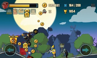Screenshot of Zombie Road Racing