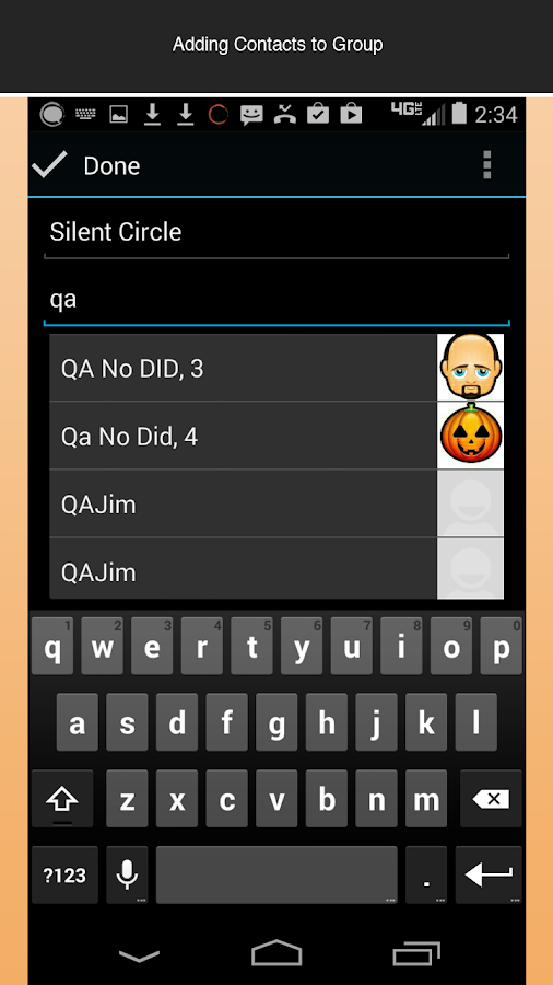 Silent Contacts - screenshot