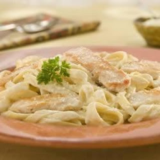 Chicken Alfredo With Fettuccine.