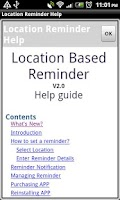 Screenshot of Location Reminder