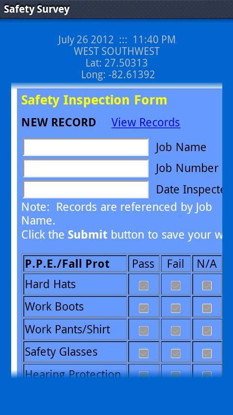 LAS Safety Survey- screenshot