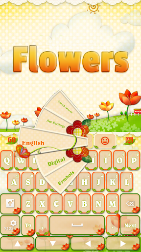 GOキーボード花