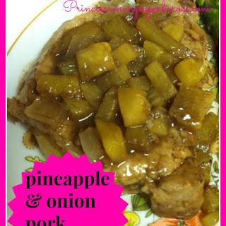 Pineapple And Onion Pork Chops