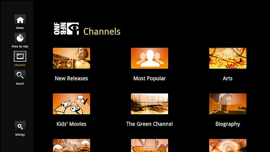 NFB Films for Google TV - screenshot thumbnail