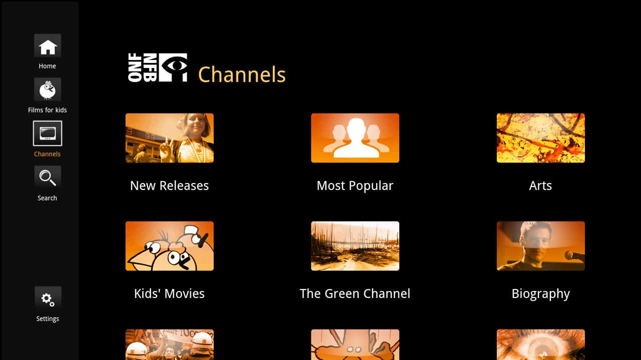 NFB Films for Google TV- screenshot