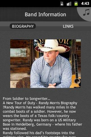 Randy Morris, ASCAP - screenshot
