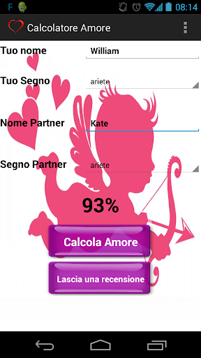 Calcolatore Amore Love Test