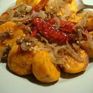 Roasted Sweet Potatoes with Garam Masala.