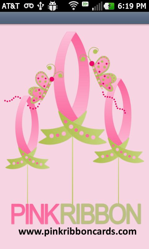 Pink Ribbon Cards - screenshot