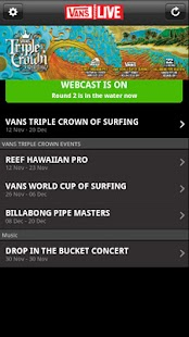 Vans Live 2.0 for Android - screenshot thumbnail