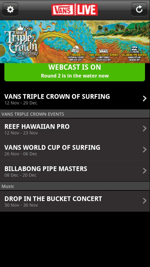 Vans Live 2.0 for Android - screenshot