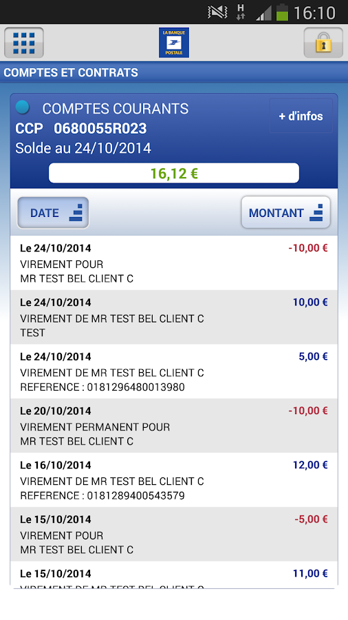 La Banque Postale - screenshot