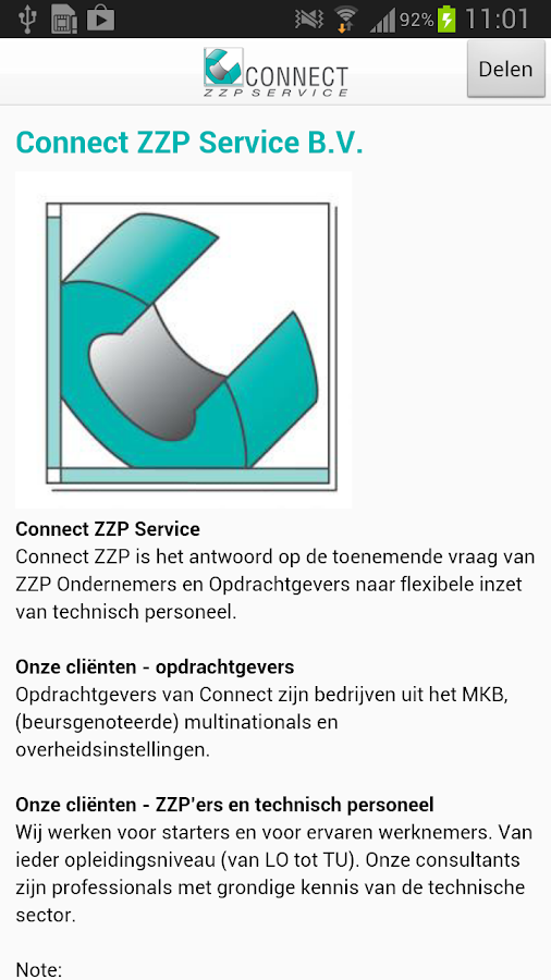 Connect ZZP - screenshot