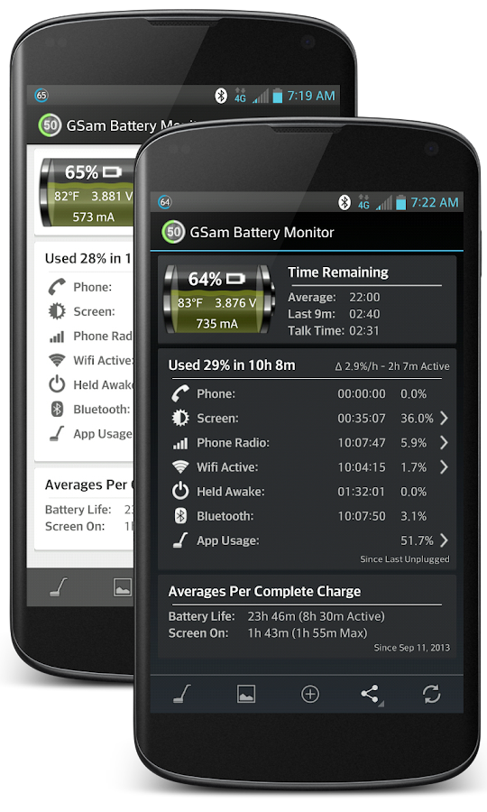 GSam Battery Monitor - screenshot