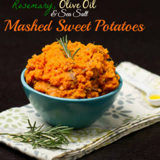 Rosemary, Olive Oil & Sea Salt Mashed Sweet Potatoes.