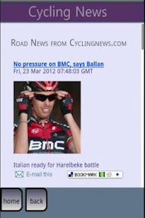 Cycling News - screenshot thumbnail