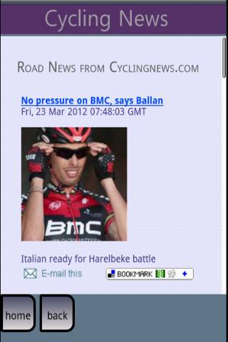 Cycling News- screenshot