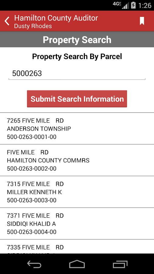 County Auditor Property Search