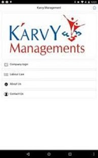 Karvy Management screenshot