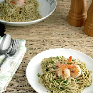 Chimichurri Pasta with Shrimp