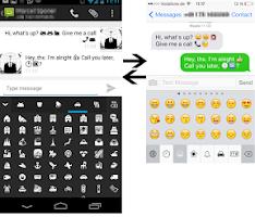 Screenshot of Pure Android Emoji Keyboard