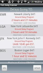 FAA Airport Delay Scanner