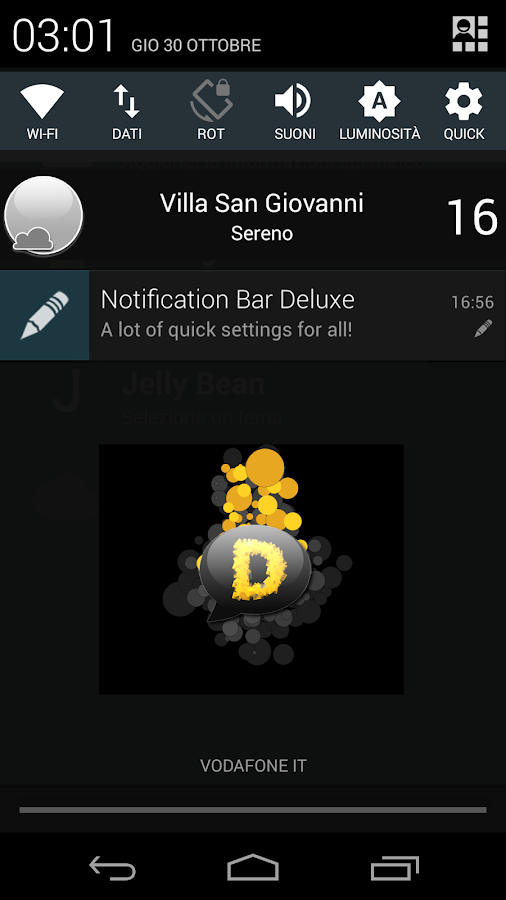 Notification Bar Deluxe - screenshot