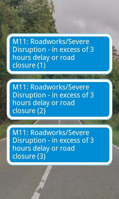 UK Traffic Alerts - screenshot
