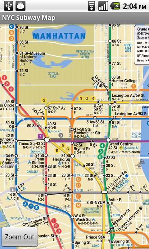 New York City Subway Map 6 Line