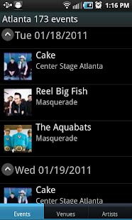 Concert Finder (Ad Supported)- screenshot thumbnail