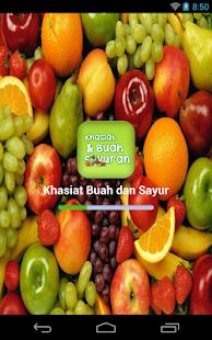 Khasiat Buah dan Sayur